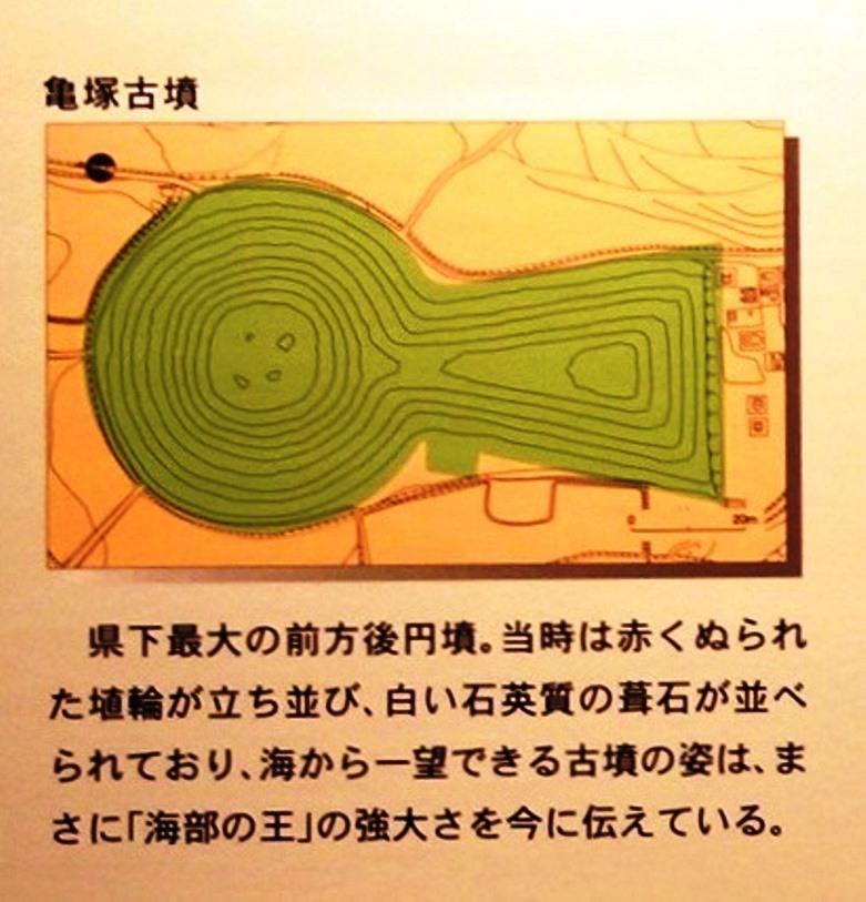 亀塚古墳 解説パネル