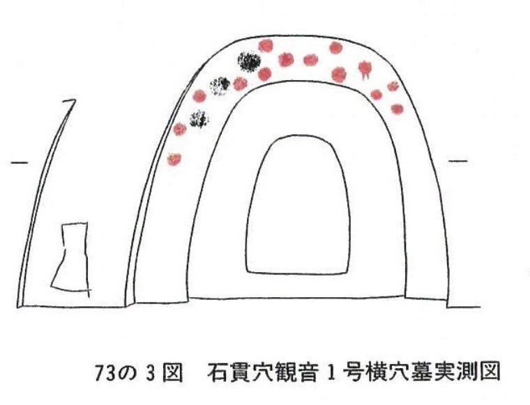 石貫穴観音1号横穴墓実測図