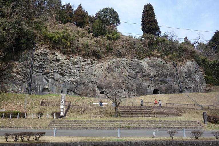 大村横穴群の全景