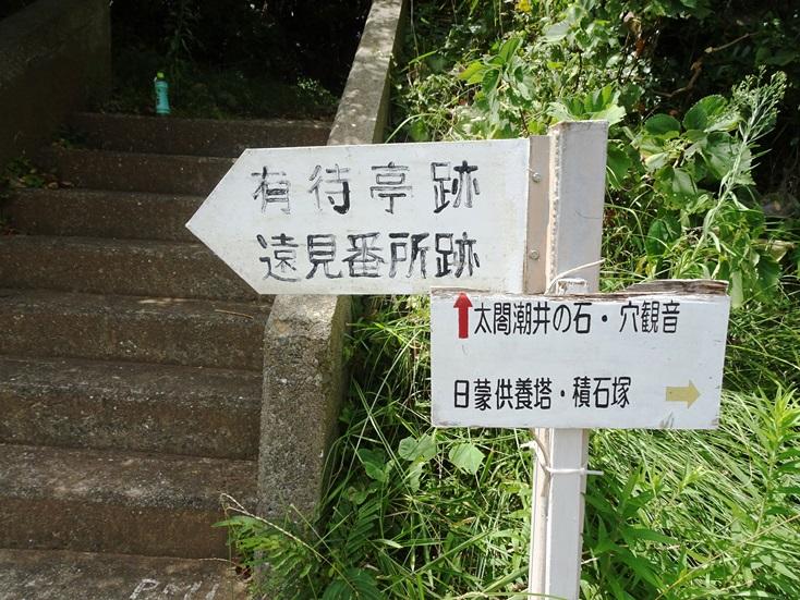 相島遠見番所跡の標識