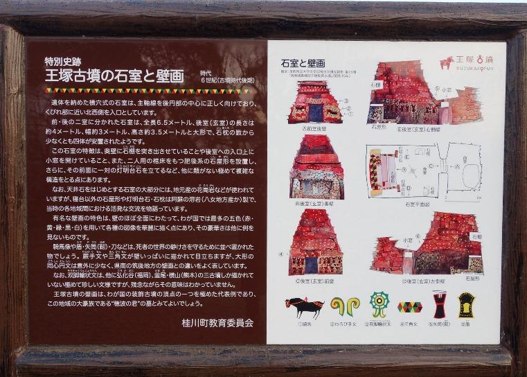 特別史跡王塚古墳の石室と壁画