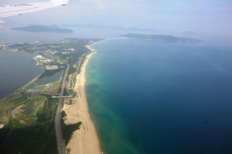 飛行機からみる志賀島