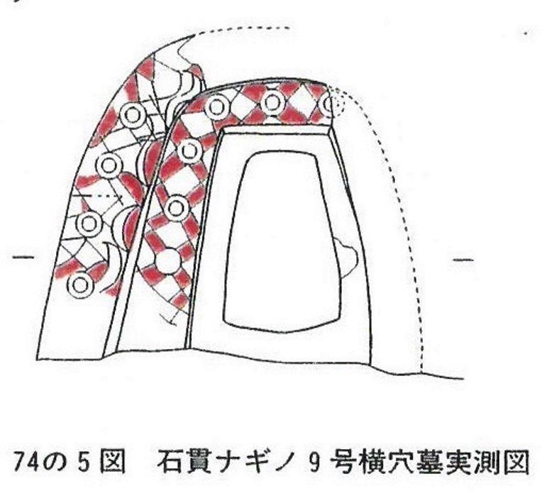 石貫ナギノ9号横穴墓実測図