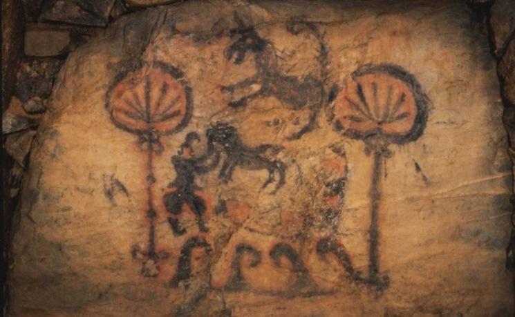 竹原古墳の装飾壁画