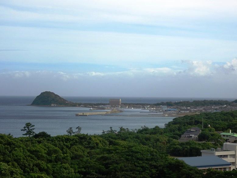 鐘崎漁港の眺め
