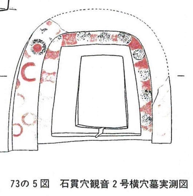 石貫穴観音2号横穴墓実測図