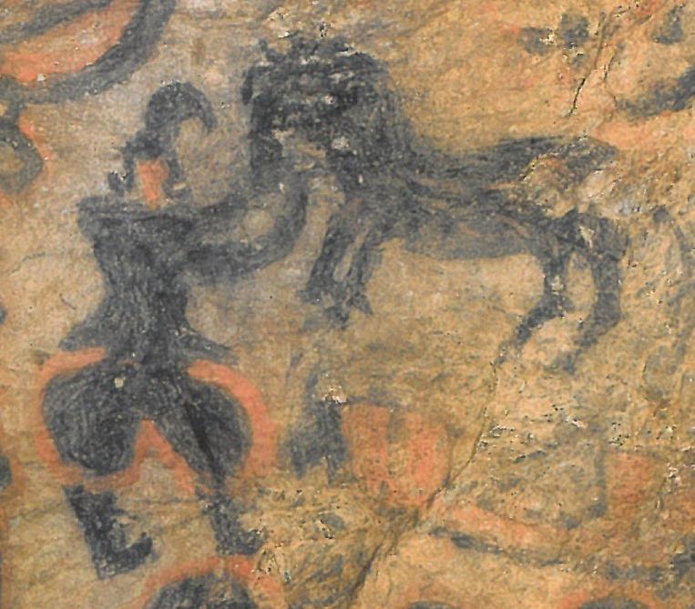 竹原古墳奥壁の絵