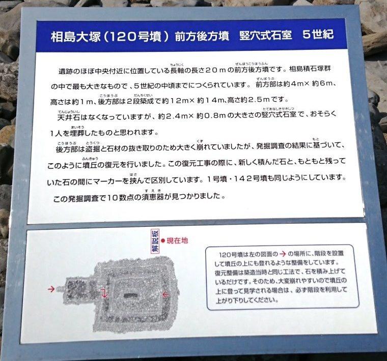 相島大塚の案内板