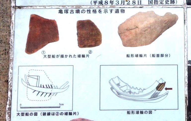 亀塚古墳の船形埴輪
