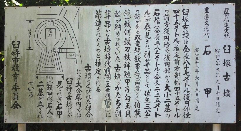 臼塚古墳の石甲の解説