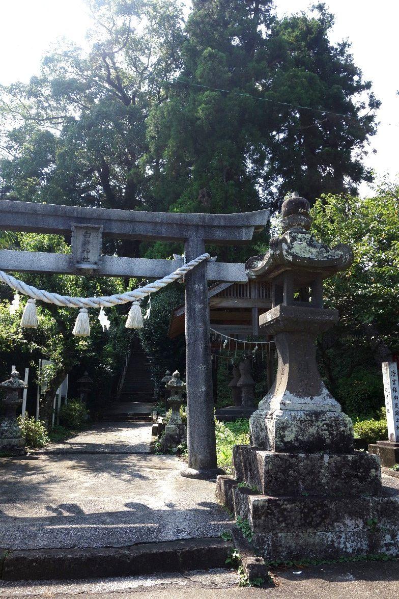 臼塚古墳への参道