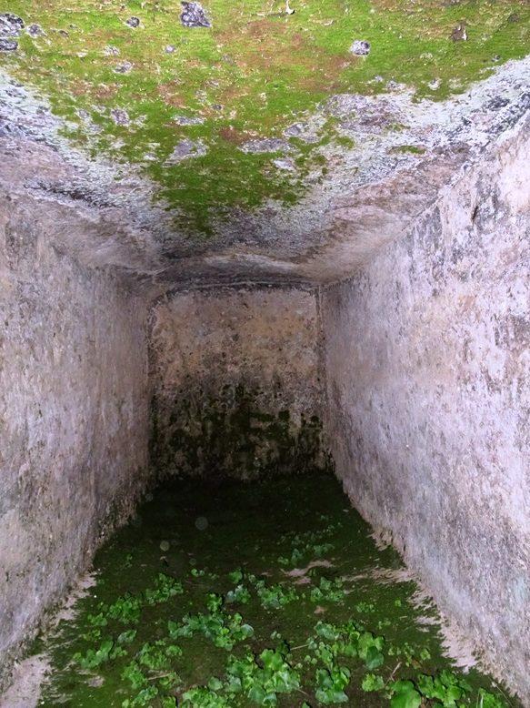 古宮古墳の石棺内部