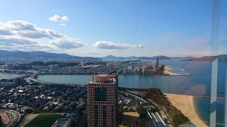 福岡タワーから見下ろす西側の街並み