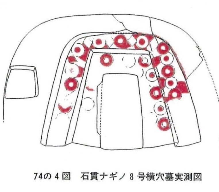 石貫ナギノ8号横穴墓実測図
