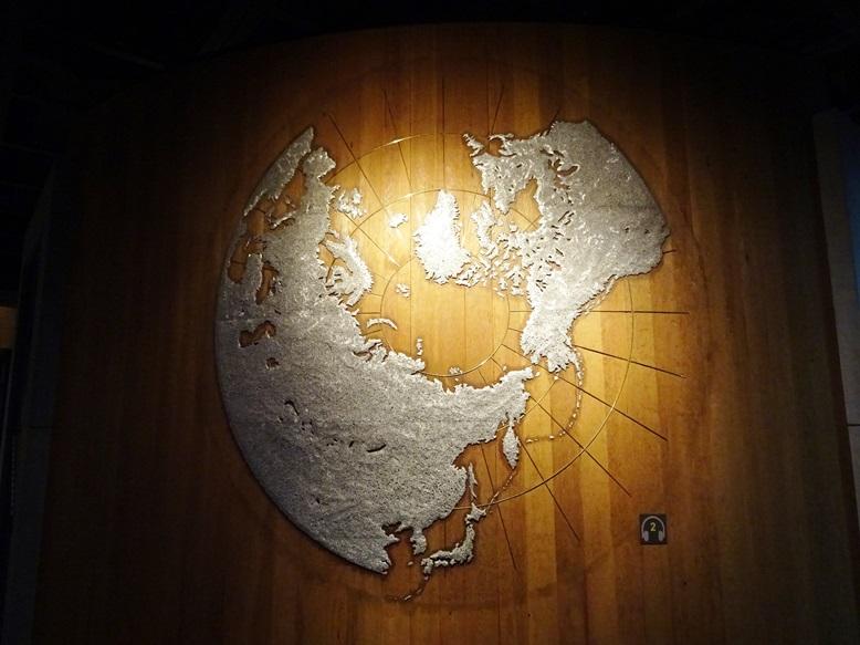 北極からみる北方民族の地図