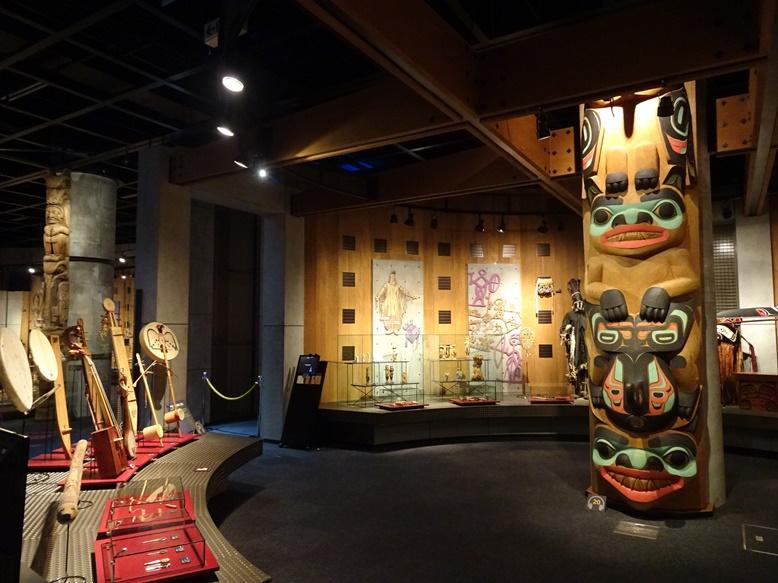 北方民族の精神世界の展示コーナー
