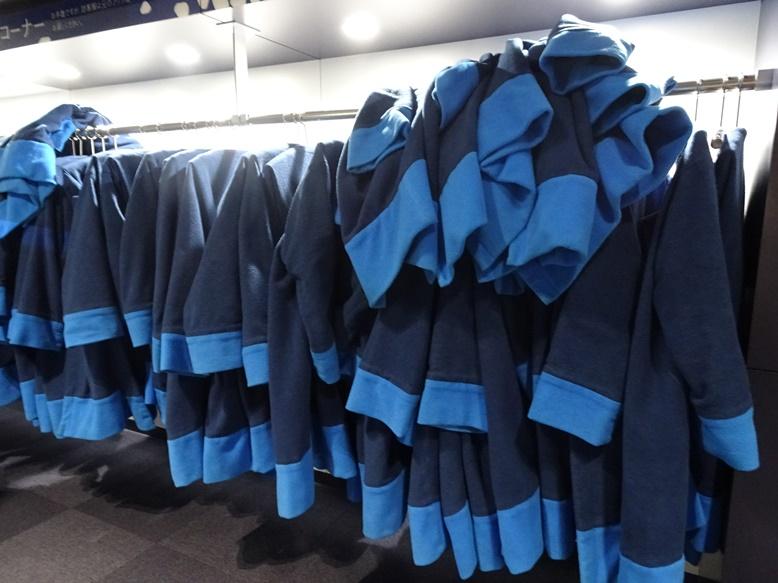 流氷体感室にはコートを着用